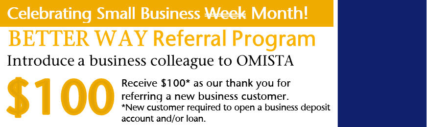 $100 for referring a new business customers