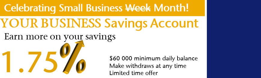 Your Business savings account 1.75% interest